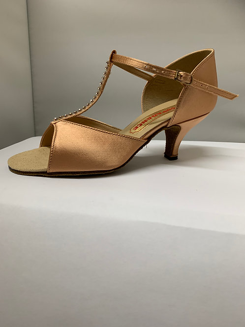 Supadance T bar dark tan 2.5 slim heel size 4