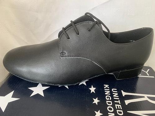 RV Zeus mens black leather ballroom shoe size 10