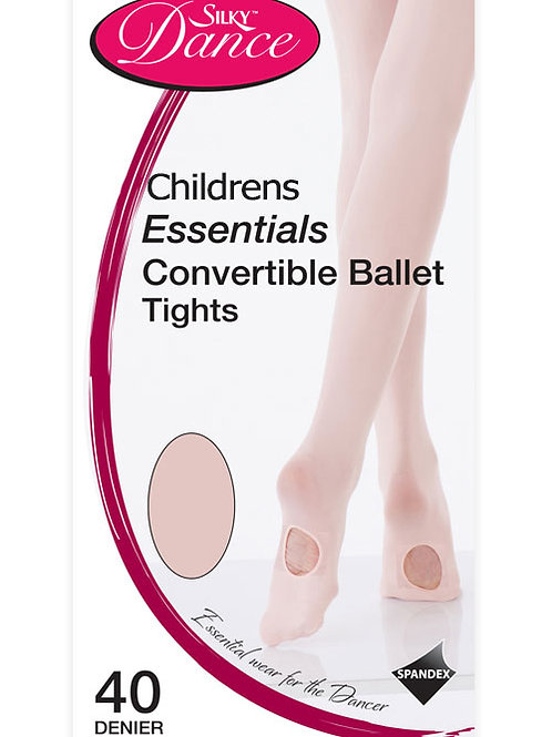 Silky essential convertible ballet tights pink