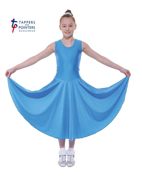 T & P B3 Girls sleeves long length ballroom skirt