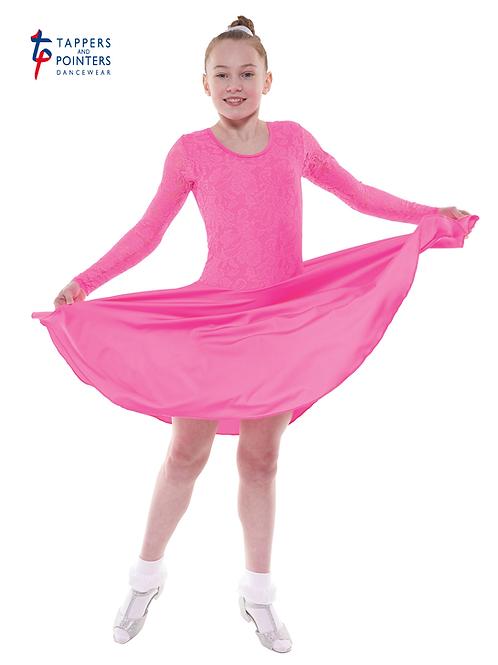 T & P girls nylon/lycra & stretch lace ballroom dress B7