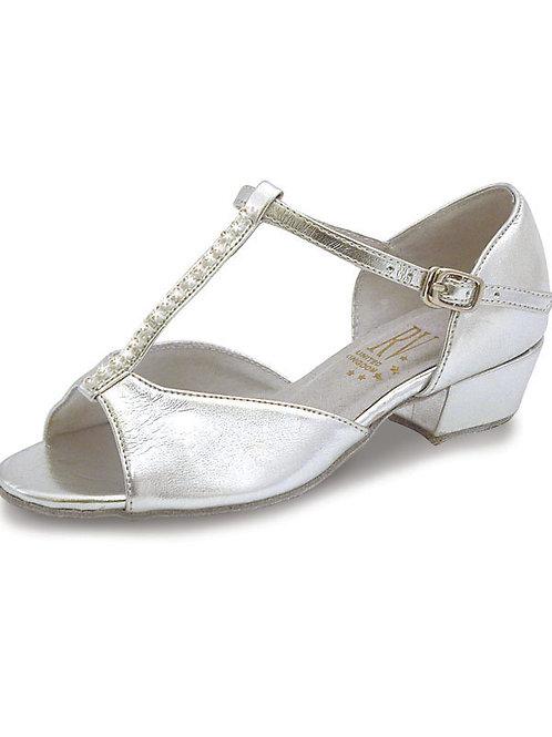 RV Marika Girls t bar silver ballroom dance shoe