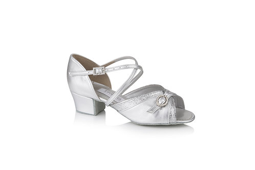 Freed of London Lucy girls ballroom dance shoe silver