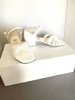 Supadance white girls dance shoes size 10 slight glue marks