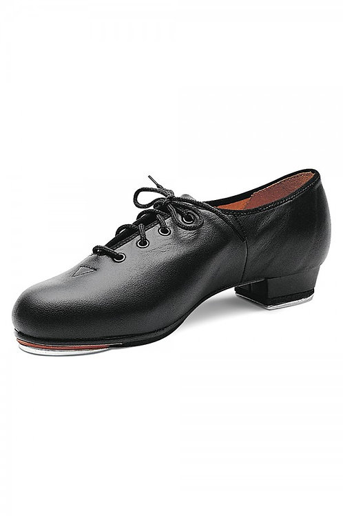 Block Mens black leather jazz tap cushioned insole.