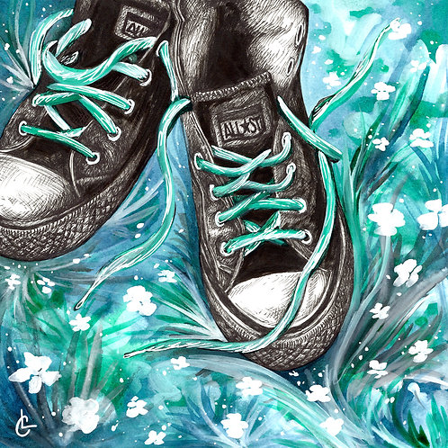 """Shoes"" | Inktober 2020"