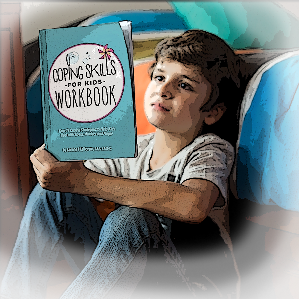 Coping skills for kids workbook EncourageKids therapy book Awards for counselors