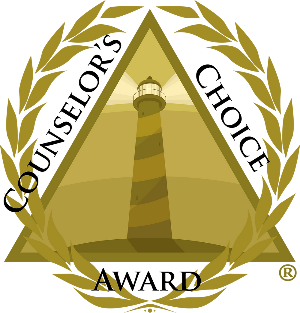 Counselor's Choice Award Logo with golden background