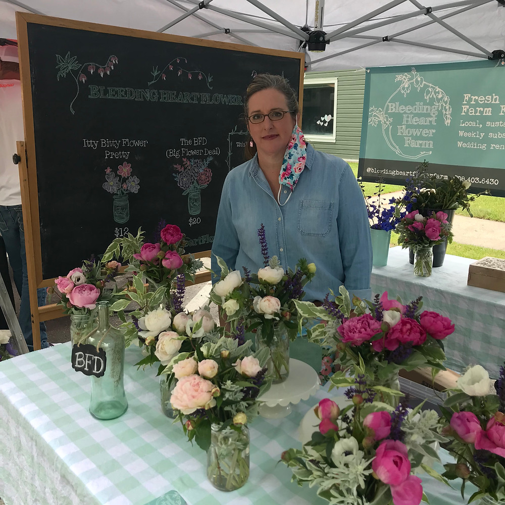 Farmers Market in the Bitterroot Valley is a great place to gain bouquet customers.