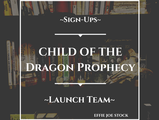Book Launch Team Information for Child of the Dragon Prophecy