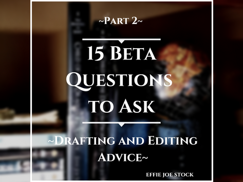 15 Questions to Ask Beta Readers