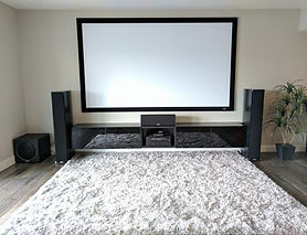 Projector and Surround Sound Setup