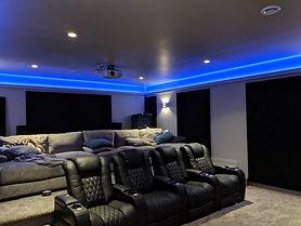Custom Home Theatre Theatre Seats LED Lighting Effect