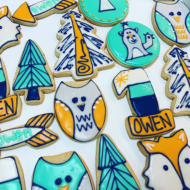 Happy birthday to Owen! Adorable cookies