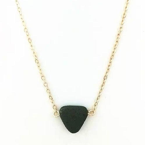 Lava Drop Necklace (gold)