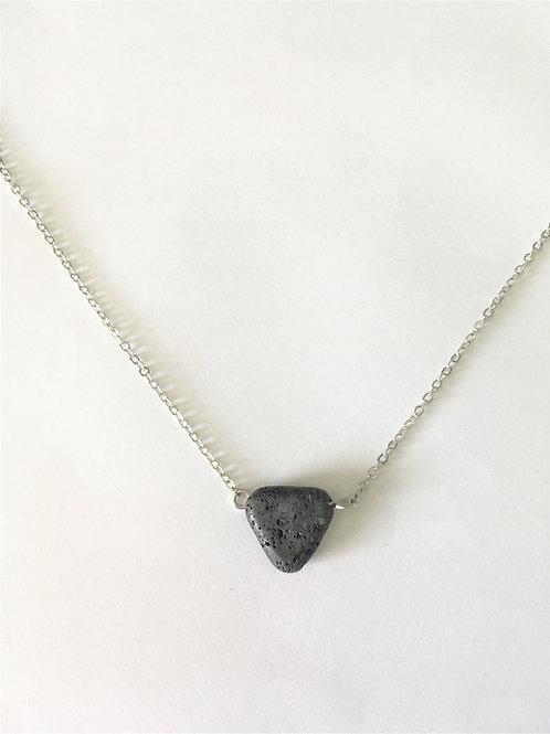 Lava Drop Necklace (silver)