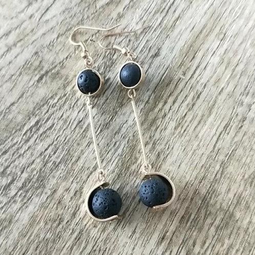 Lava Drop Earrings (Silver)