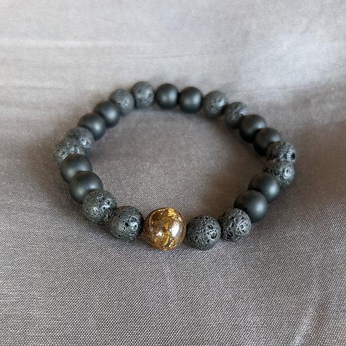 Lava Rock Diffuser Bracelet (tigereye)