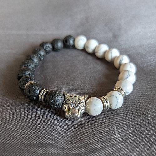 Lava Rock Diffuser Bracelet (panther)