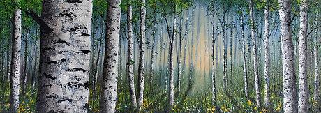 P523 light and birches study 400 x 1100.