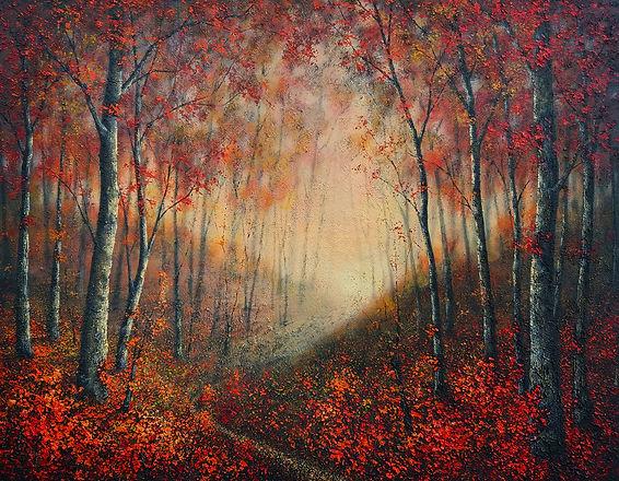 P481 evening walk, autumn 1100 x 1400.jp