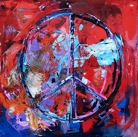 Red Peace - Tim Hackett 160 x 160cm $4,5