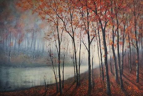 P524 autumn mist on the lake 1000 x 1480