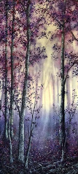 Twilight 110 x 50 mixed media resin and