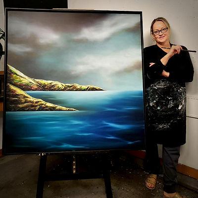 Juliet next to painting.jpg