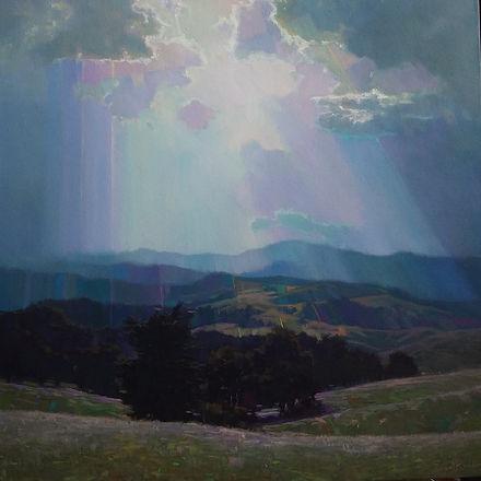 Sunshower   61cm x 61cm    oil.jpg