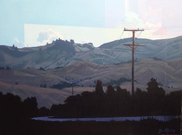The Road South   76cm x 102cm   Acrylic.