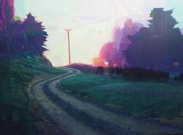 Dawn Pastorale  91cm x 122 cm Acrylic.jp