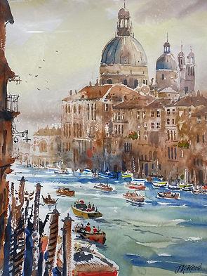 Venice - JK Reed watercolour 45cm x 34cm