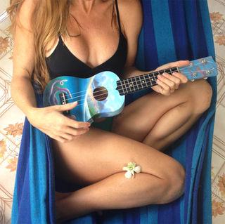 hand painted ukulele, oil paint on ukulele