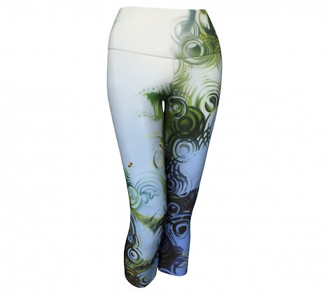 Bee-autiful Palms yoga capri