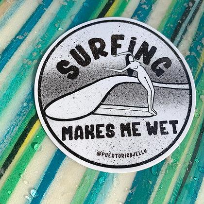 Wet Surfing Sticker