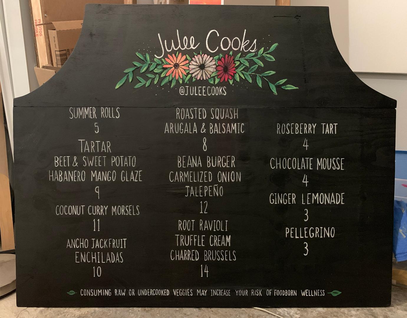 Julee Cooks menu