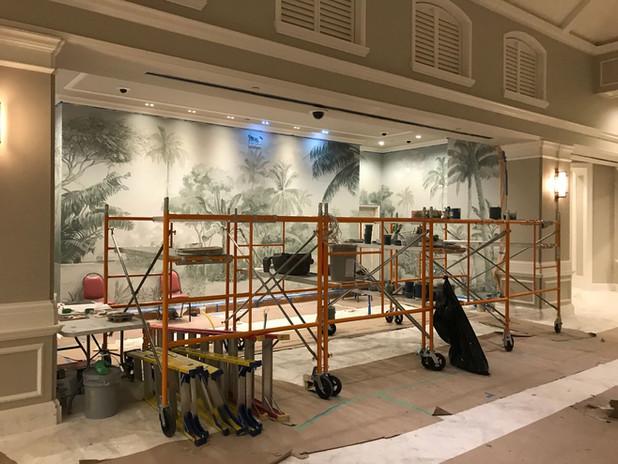 Lobby West in progress