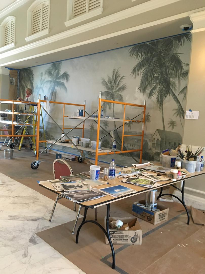 Lobby East in progress