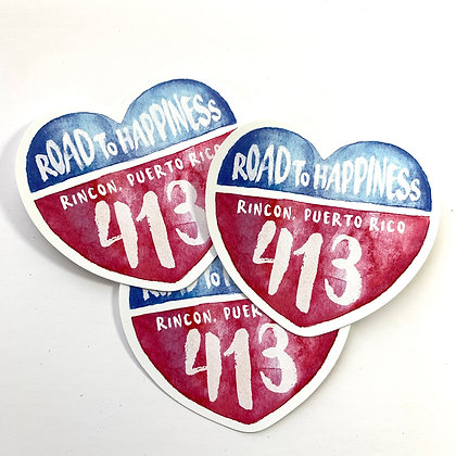 Road to Happiness Sticker
