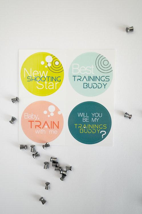 TRAININGSBUDDY I Sticker (4 Stk.)