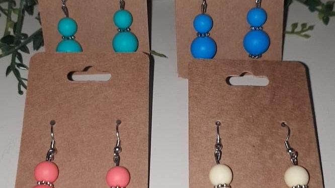 Silicone bead earrings