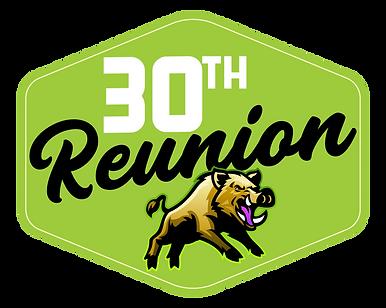 30th Reunion Button