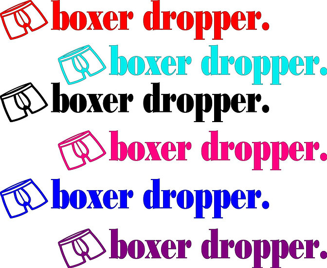 Boxer Dropper Vinyl Decal