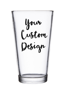 Customized Pint Sized Beer Glass