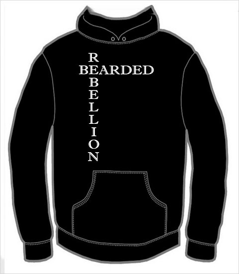 Bearded Rebellion (no cross) Hoodie
