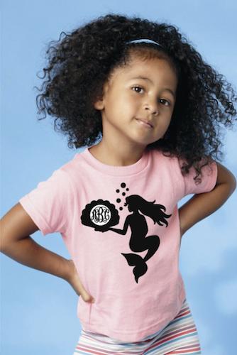 Custom Monogram Mermaid T-Shirt