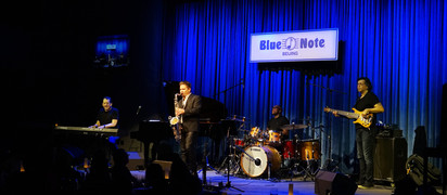 Jeff Lorber Fusion featuring Lionel Cordew, Jimmy Haslip, and Patrick Lamb play the Blue Note Beijin