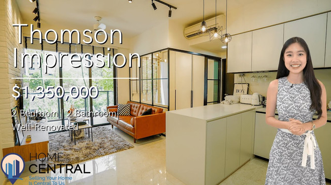 $1.29M Move-In Ready, Well-Renovated 2 Bedder In Thomson   Singapore Property Home Tour