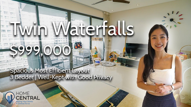 [Brand New Listing] Spacious, Efficient 3 Bedder Layout for under $1M   Twin Waterfalls, Punggol